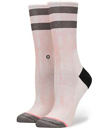 Stance Ty Lily Light Pink Crew Socks