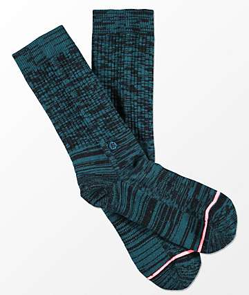 Stance Uncommon Classic Teal Crew Socks