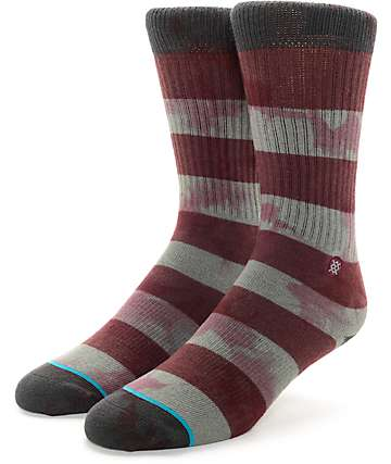 Stance Wells Burgundy Crew Socks