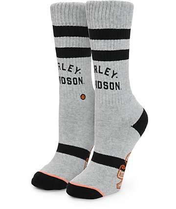 Stance x Harley Davidson Grey Crew Socks