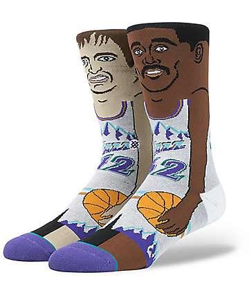 Stance x NBA J Stockton Malone Crew Socks