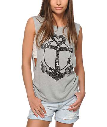 Starling Leah Anchor Heart Muscle Tee
