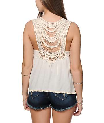 Starling Riley Crochet Back Tank Top