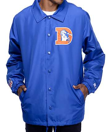 Starter Broncos Royal Blue Coaches Jacket