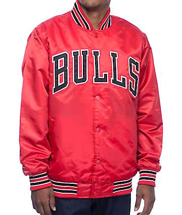 Starter Bulls Red Satin Jacket