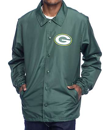 Starter Packers Green Coaches Jacket