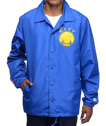 Starter Warriors Royal Blue Coaches Jacket
