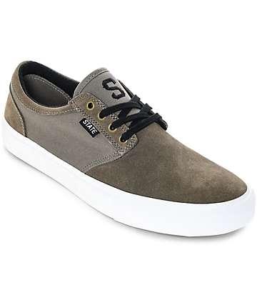 State Elgin zapatos de skate de ante en color nuez y blanco