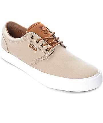 State Elgin zapatos de skate de lienzo y ante marrón
