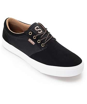 State Elgin zapatos de skate en negro, marrón y blanco