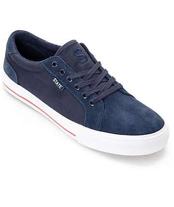 State Hudson zapatos de skate en azul, blanco y rojo