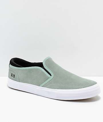 State Keys Mint & White Suede Skate Shoes