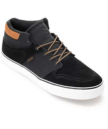 State Mercer Black, Tan & White Skate Shoes