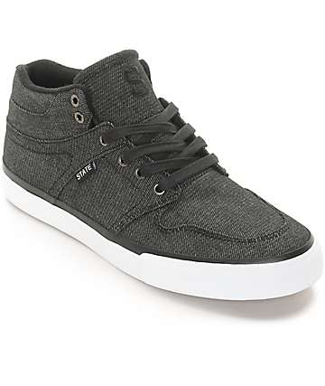 State Mercer Black Denim Skate Shoes