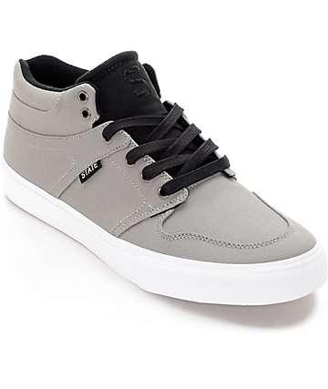 State Mercer zapatos de skate en lona gris y negra