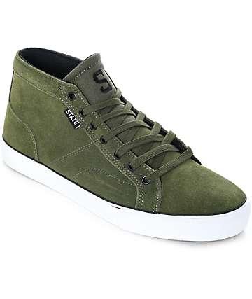 State Salem zapatos de skate de ante en verde y blanco