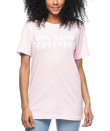 Stay Cute Girl Gang 4 Ever Pink T-Shirt