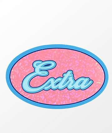 Stickie Bandits Extra Pink & Blue Sparkle Sticker