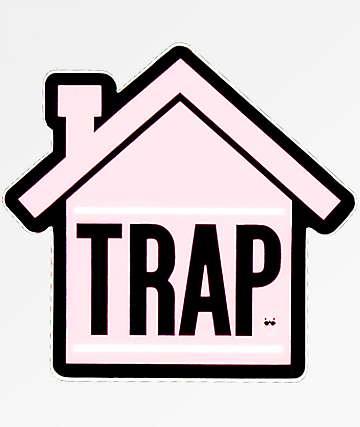 Stickie Bandits Trap Pink House Sticker