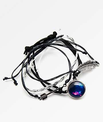 Stone + Locket Braid, Galaxy & Arrow Bracelet Pack