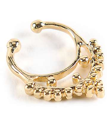 Stone + Locket Gold Faux Septum Nose Ring