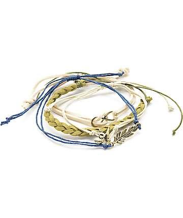 Stone + Locket Infinity & Feather Bracelet Pack