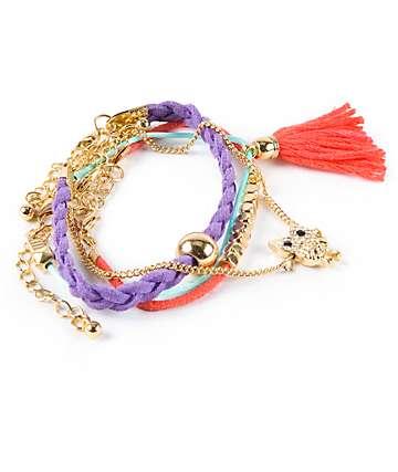 Stone + Locket Lana Friendship Bracelet Pack
