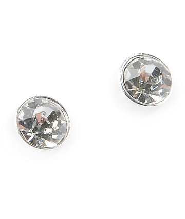 Stone + Locket Large Stud Earrings