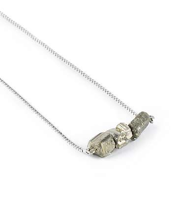 Stone + Locket Silver 3 Stone Pendant Necklace