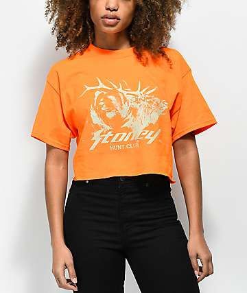 Stoney by Post Malone Buck Hunt Club camiseta corta en naranja
