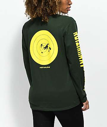 Stoney by Post Malone Hunt Club Ammo Green & Yellow Long Sleeve T-Shirt