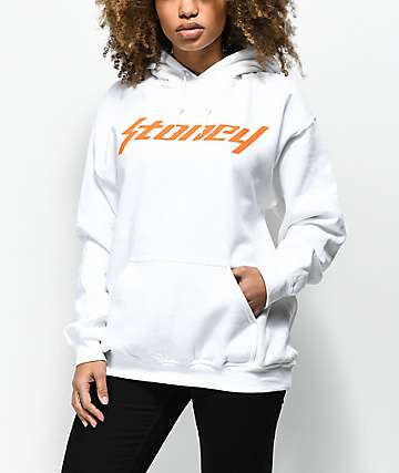 Stoney by Post Malone White & Orange Hoodie