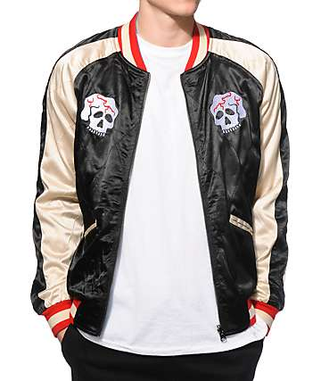 Straight To Hell Demon Versus Snake Reversible Satin Jacket