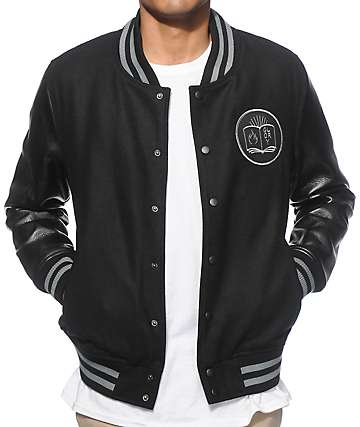 Straight To Hell Fire Or Glory Black Wool Varsity Jacket