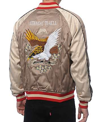Straight To Hell Vengeful Eagle Reversible Souvenir Jacket