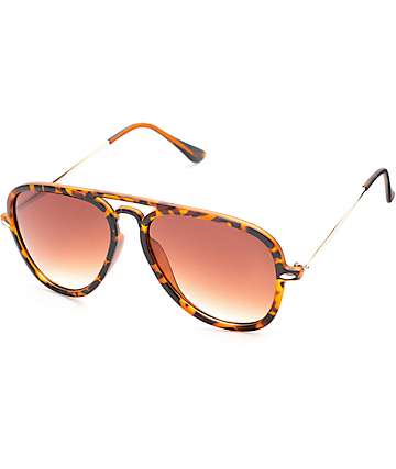 Strider Tortoise Shell Aviator Sunglasses