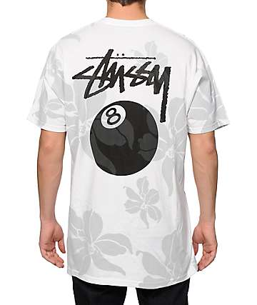 Stussy 8 Ball Flowers T-Shirt