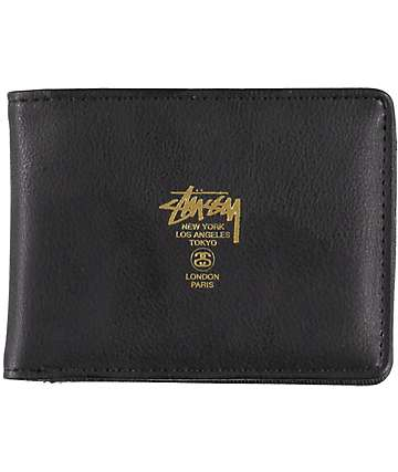 Stussy CLC Black Bifold Wallet