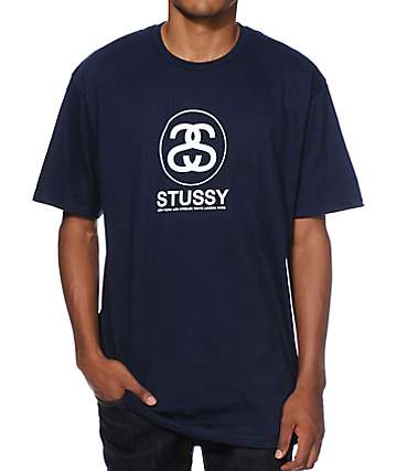 Stussy Cities Link Navy T-Shirt