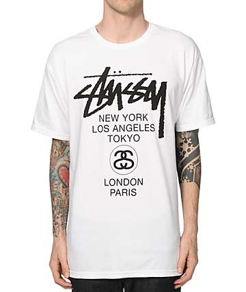 Stussy Diametric Black & White T-Shirt