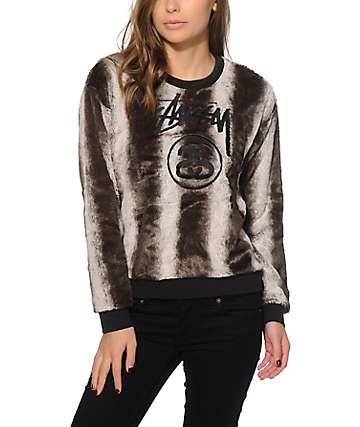 Stussy Furry Crew Neck Sweatshirt