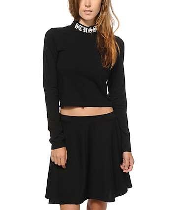 Stussy Long Sleeve Crop Top