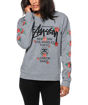 Stussy Rose Crew Neck Sweatshirt