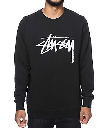 Stussy Stock Embroidered Crew Neck Sweatshirt