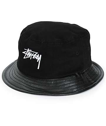 Stussy Stock Leather Brim Bucket Hat