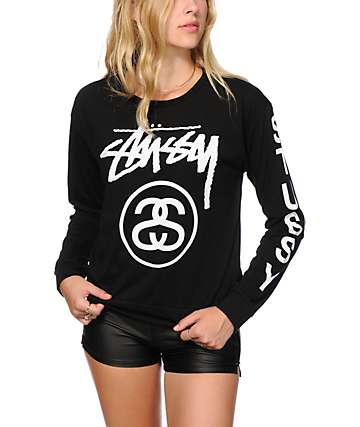 Stussy Stock Sloppy Long Sleeve T-Shirt