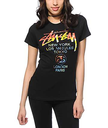 Stussy Tie Die World Tour T-Shirt