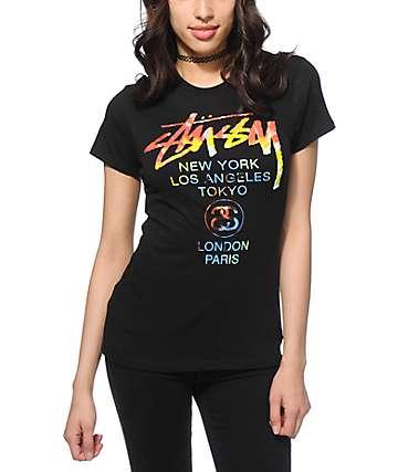 Stussy Tie Die World Tour T-Shirt