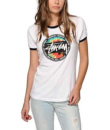Stussy Tie Dye Dot Ringer T-Shirt