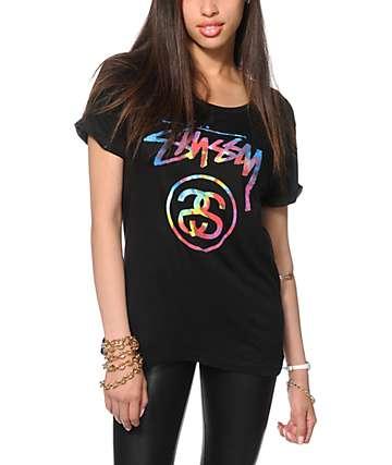 Stussy Tie Dye Stock Link T-Shirt
